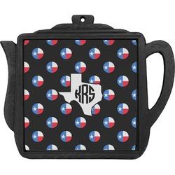 Texas Polka Dots Teapot Trivet (Personalized)