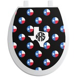 Texas Polka Dots Toilet Seat Decal (Personalized)