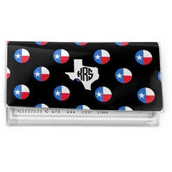 Texas Polka Dots Vinyl Checkbook Cover (Personalized)