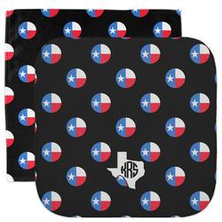 Texas Polka Dots Facecloth / Wash Cloth (Personalized)