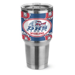 Dawson Eagles Football Stainless Steel Tumbler - 30 oz (Personalized)