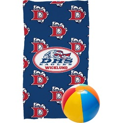 Dawson Eagles Football Beach Towel (Personalized)