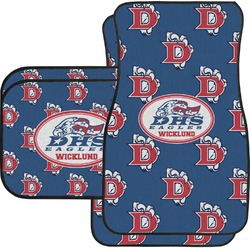 Dawson Eagles Football Car Floor Mats Set - 2 Front & 2 Back (Personalized)