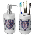 Dawson Eagles Football Bathroom Accessories Set (Ceramic) (Personalized)