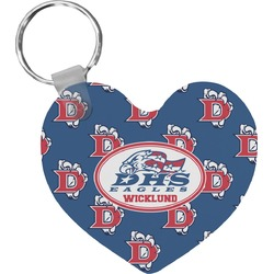 Dawson Eagles Football Heart Keychain (Personalized)