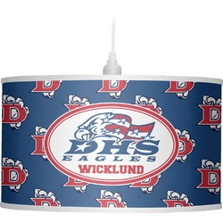 Dawson Eagles Football Drum Pendant Lamp (Personalized)