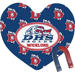 Dawson Eagles Football Heart Fridge Magnet (Personalized)
