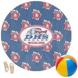 Dawson Eagles Football Round Beach Towel (Personalized)