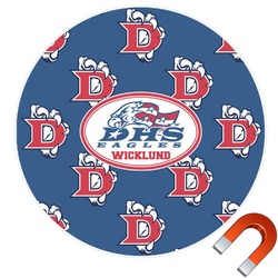 Dawson Eagles Football Round Car Magnet (Personalized)