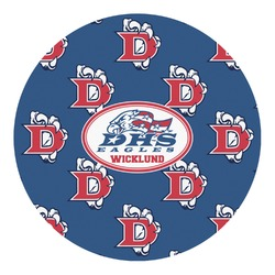 Dawson Eagles Football Round Decal - Custom Size (Personalized)