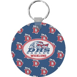 Dawson Eagles Football Round Keychain (Personalized)