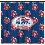 Dawson Eagles Football Shower Curtain (Personalized)