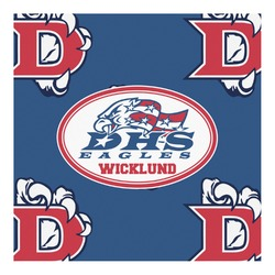 Dawson Eagles Football Square Decal - Custom Size (Personalized)