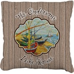 Lake House Faux-Linen Throw Pillow (Personalized)