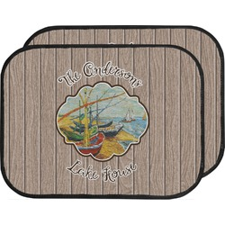 Lake House Car Floor Mats (Back Seat) (Personalized)