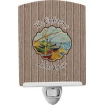 Lake House Ceramic Night Light (Personalized)