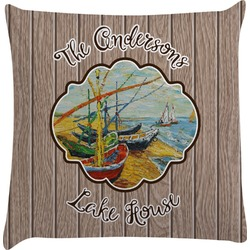 Lake House Decorative Pillow Case (Personalized)