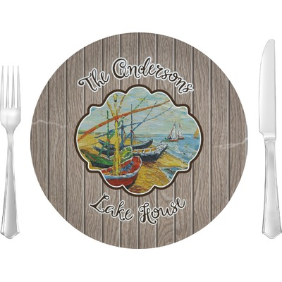 """Lake House 10"""" Glass Lunch / Dinner Plates - Single or Set (Personalized)"""