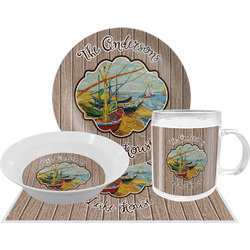 Lake House Dinner Set - 4 Pc (Personalized)