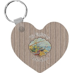 Lake House Heart Keychain (Personalized)