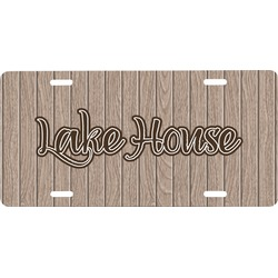 Lake House Front License Plate (Personalized)
