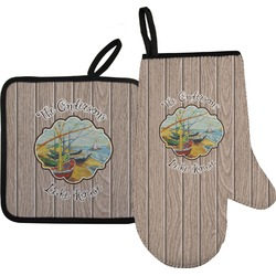 Lake House Oven Mitt & Pot Holder (Personalized)