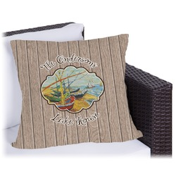 """Lake House Outdoor Pillow - 16"""" (Personalized)"""