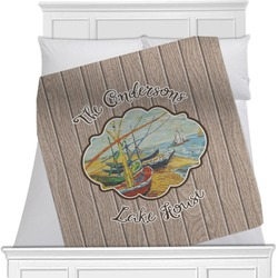 Lake House Minky Blanket (Personalized)
