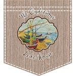 Lake House Iron On Faux Pocket (Personalized)