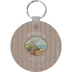 Lake House Round Keychain (Personalized)