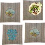 Lake House Set of 4 - Square Dinner Plates (Personalized)