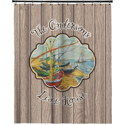 """Lake House Extra Long Shower Curtain - 70""""x84"""" (Personalized)"""