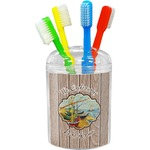 Lake House Toothbrush Holder (Personalized)
