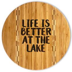 Lake House Bamboo Cutting Board (Personalized)