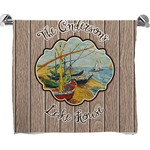Lake House Full Print Bath Towel (Personalized)