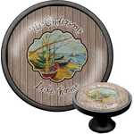 Lake House Cabinet Knob (Black) (Personalized)