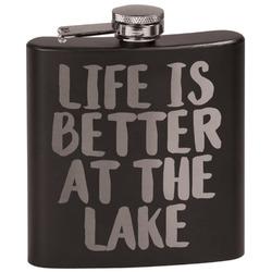 Lake House Black Flask Set (Personalized)