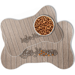 Lake House Bone Shaped Dog Food Mat (Personalized)