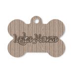 Lake House Bone Shaped Dog Tag (Personalized)