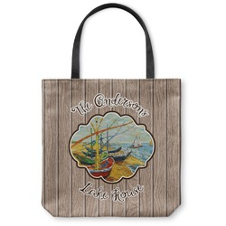 """Lake House Canvas Tote Bag - Large - 18""""x18"""" (Personalized)"""
