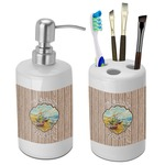 Lake House Bathroom Accessories Set (Ceramic) (Personalized)