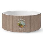 Lake House Ceramic Dog Bowl (Personalized)