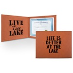 Lake House Leatherette Certificate Holder (Personalized)