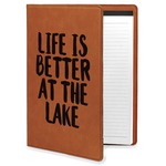 Lake House Leatherette Portfolio with Notepad (Personalized)