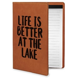 Lake House Leatherette Portfolio with Notepad - Small - Single Sided (Personalized)