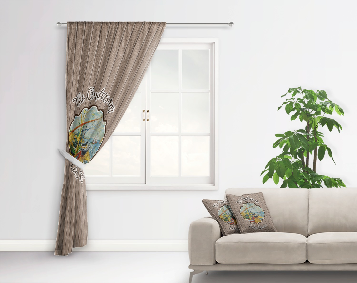 Lake House Curtain Personalized Youcustomizeit