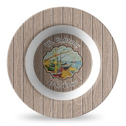 Lake House Plastic Bowl - Microwave Safe - Composite Polymer (Personalized)