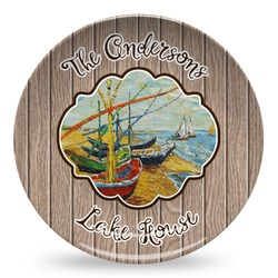 Lake House Microwave Safe Plastic Plate - Composite Polymer (Personalized)