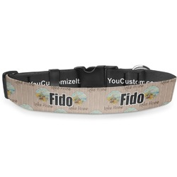 """Lake House Deluxe Dog Collar - Extra Large (16"""" to 27"""") (Personalized)"""