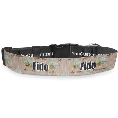 Lake House Deluxe Dog Collar (Personalized)